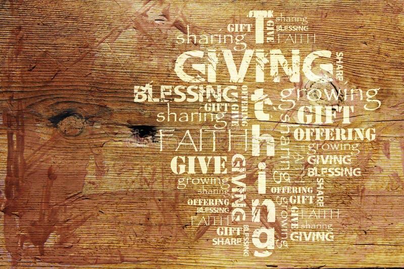 Geben und Tithing Hintergrund lizenzfreies stockbild
