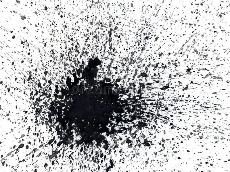 Gebeschmutztes abstraktes Aquarell lizenzfreie abbildung