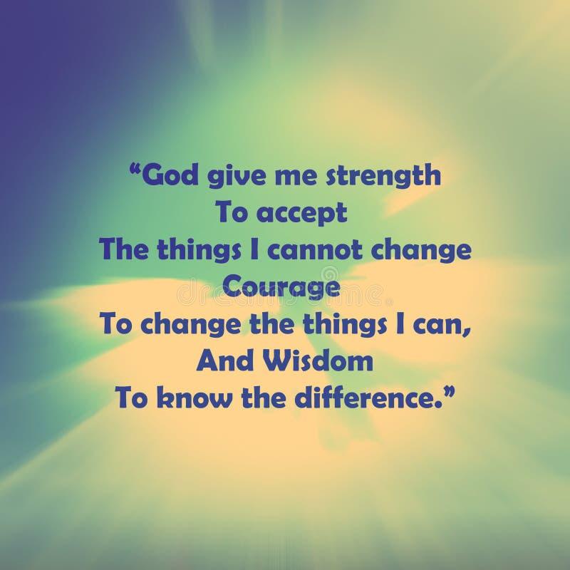 Gebet der Ruhe stock abbildung