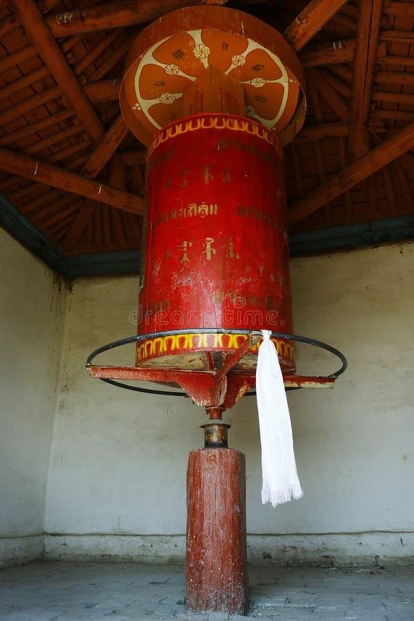 Gebet drehen herein buddhistisches Kloster stockbild