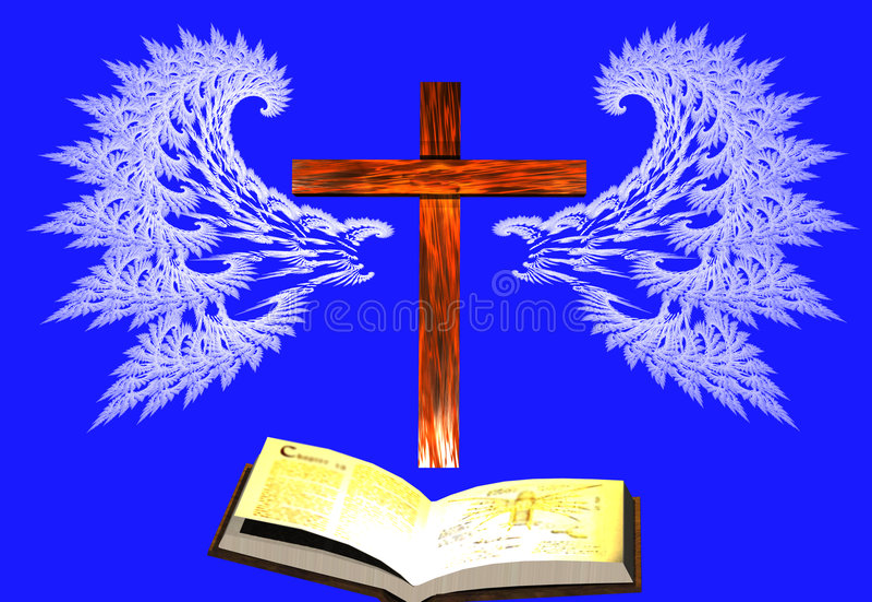 Gebet hat Flügel lizenzfreie abbildung