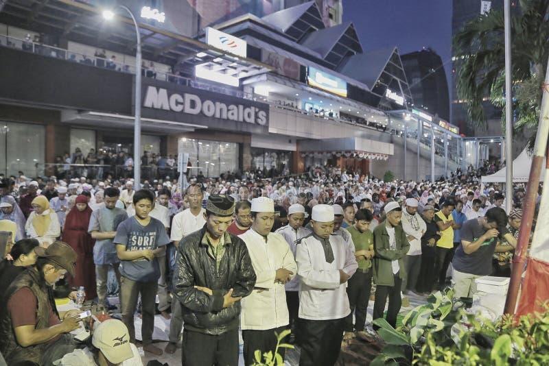 Gebete für Gerechtigkeit, Jakarta lizenzfreies stockfoto