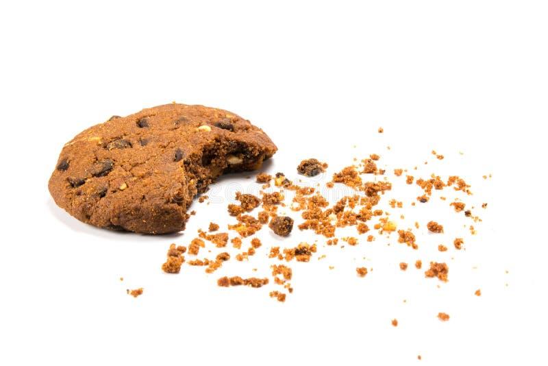 ` Gebeten koekje Î met crumbs royalty-vrije stock foto's
