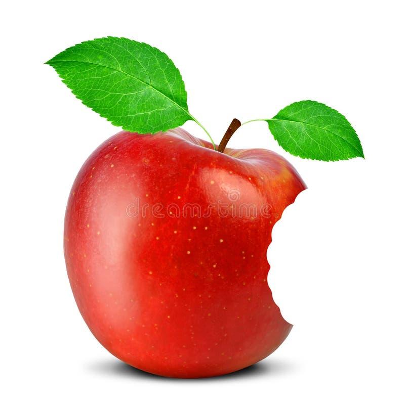 Gebeten rode appel royalty-vrije stock fotografie