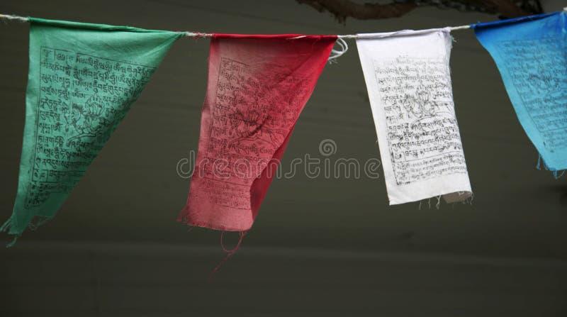 Gebetsflaggen. lizenzfreie stockbilder