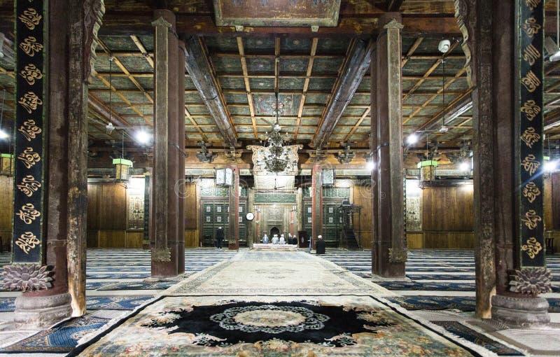 Gebetshalle der großen Moschee von Xian lizenzfreie stockfotografie