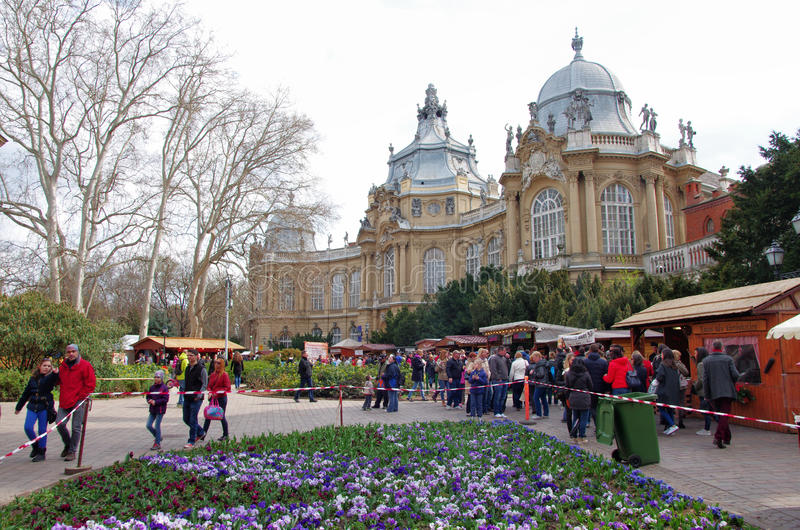 Gebeurtenis in Vajdahunjad-Kasteel in Boedapest royalty-vrije stock foto