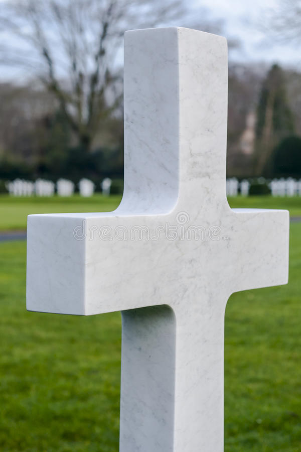Gebied België Waregem van Vlaanderen van de Wereldoorlog I het Amerikaanse begraafplaats stock foto