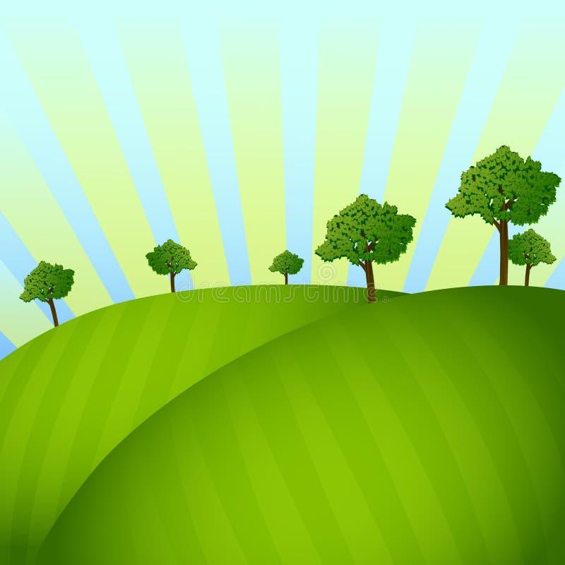 Gebied met bomen stock foto