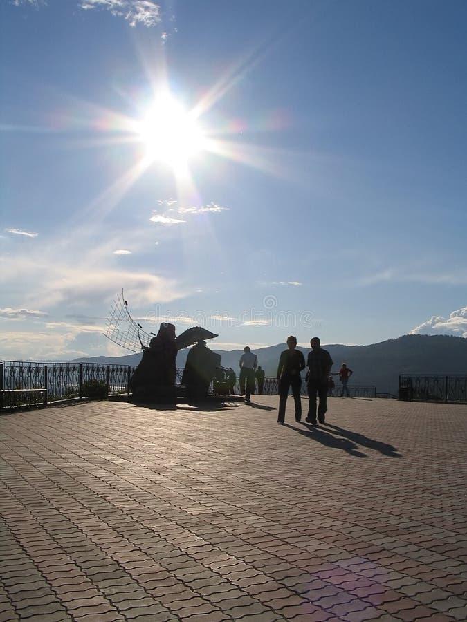 Gebied tegen de zon stock foto's