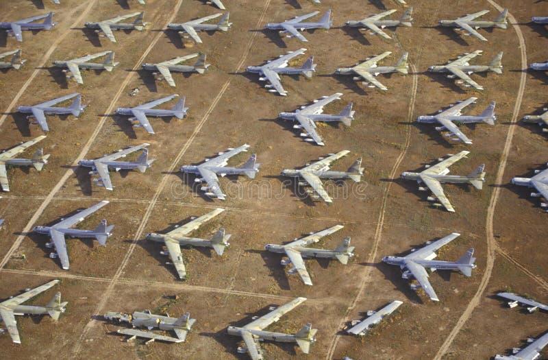 Gebied van B-52 Vliegtuigen stock afbeelding