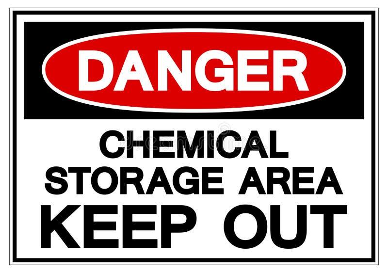 Gebied van de gevaars houdt het Chemische Opslag Symboolteken, Vectorillustratie weg, isoleert op Wit Etiket Als achtergrond EPS1 royalty-vrije illustratie