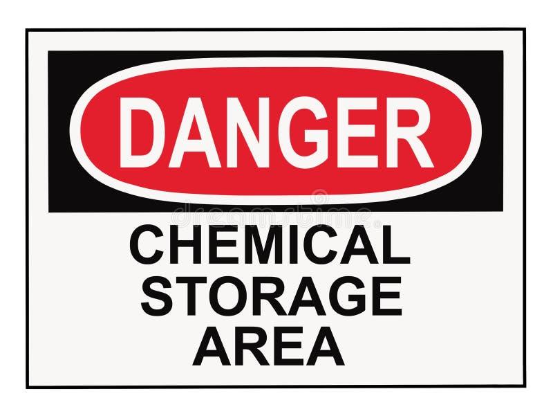 Gebied van de Opslag van het gevaar het Chemische vector illustratie