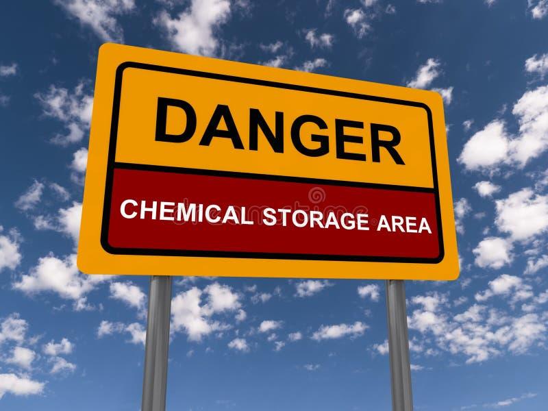 Gebied van de Opslag van het gevaar het Chemische stock illustratie