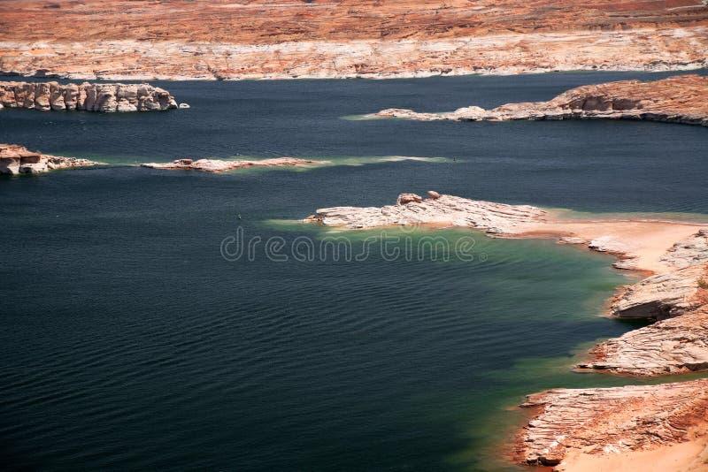 Gebied van de Recreatie van de Canion van de nauwe vallei het Nationale, Meer Powell stock foto