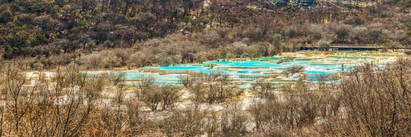 Gebied van de Rente van Huanglong het Toneel en Historische, Sichuan, China royalty-vrije stock fotografie