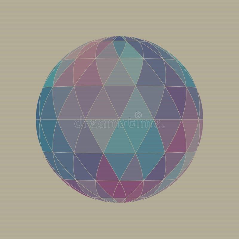 Gebied van driehoeken op kartonachtergrond vector illustratie