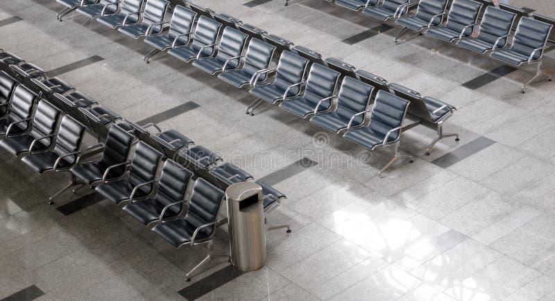 Gebied van het luchthaven het eindvertrek binnen stock foto's