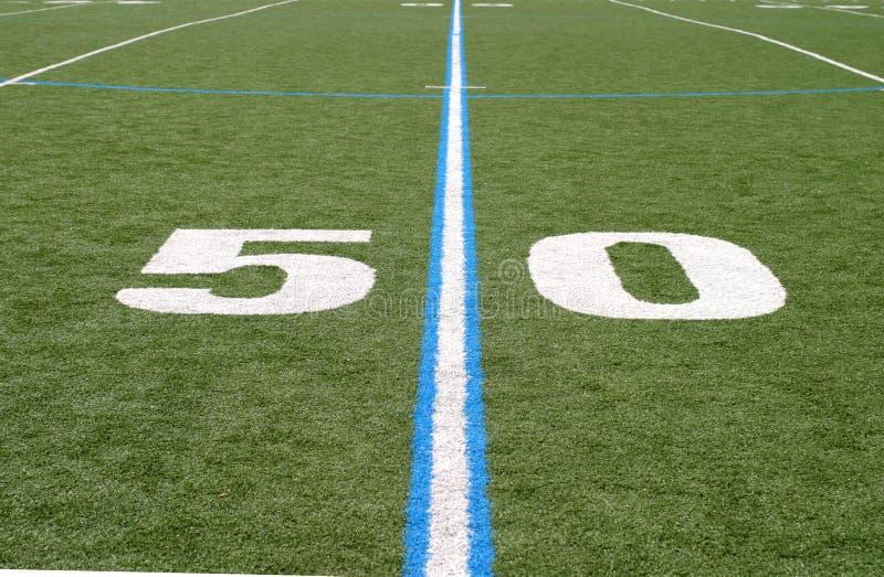 Gebied Vijftig van de voetbal royalty-vrije stock afbeelding