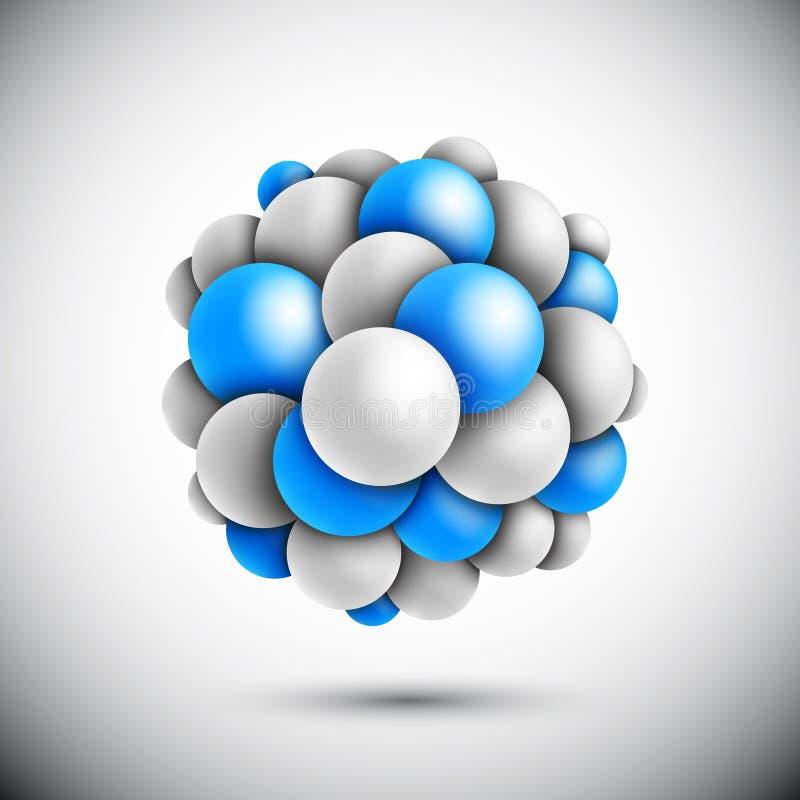 Gebied in vorm van de molecule royalty-vrije illustratie