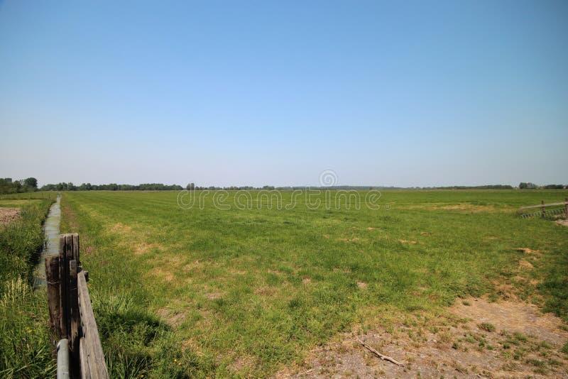 Gebieden in Eendragtspolder in Zevenhuizen Nederland, een polder voor wateropslag wordt gebruikt om Rotterdam te beschermen die a stock foto's