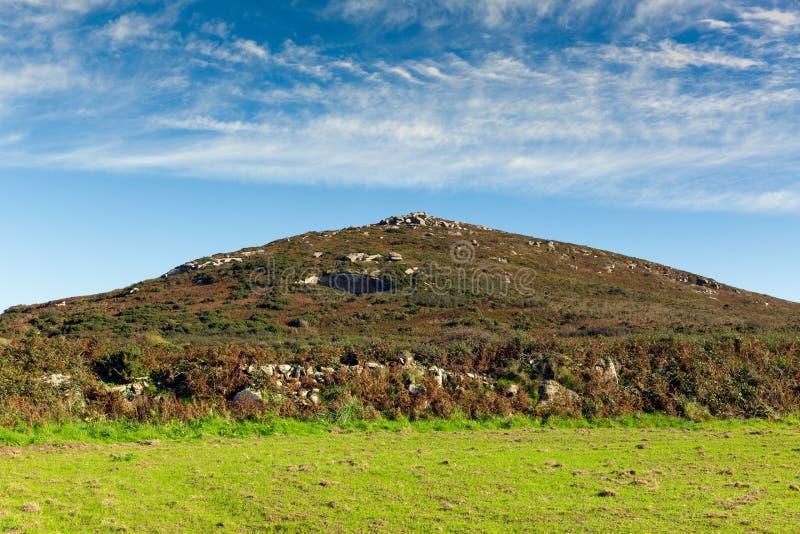 Gebieden en heuvelscornwall platteland Zennor dichtbij St Ives royalty-vrije stock fotografie
