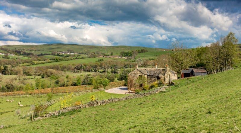 Gebieden in het platteland van Cheshire, het UK stock afbeeldingen