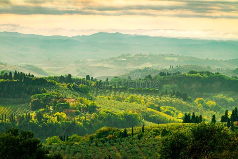 Gebieden in Toscanië stock afbeelding