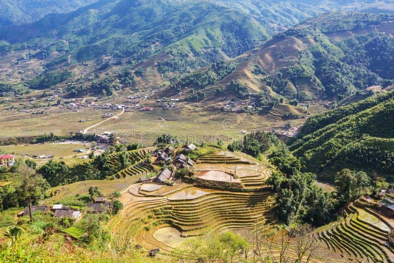 Gebieden in Vietnam stock afbeelding