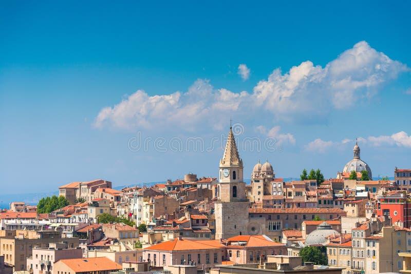 Gebiedsmening over Marseille stock foto's