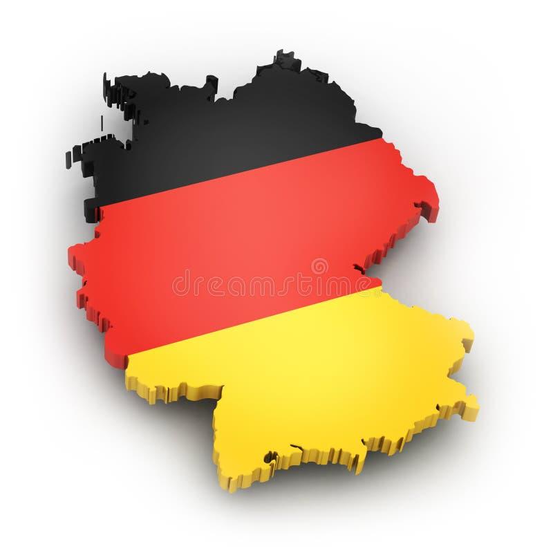 Gebiet und Flagge von Deutschland vektor abbildung