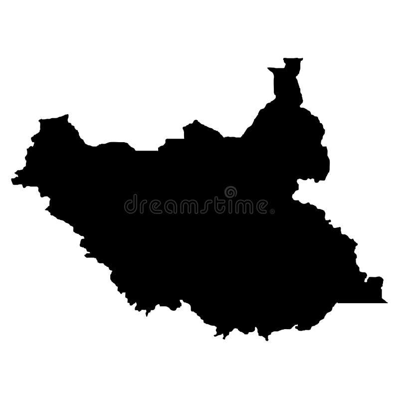 Gebiet von Süd-Sudan Weißer Hintergrund Auch im corel abgehobenen Betrag lizenzfreie abbildung