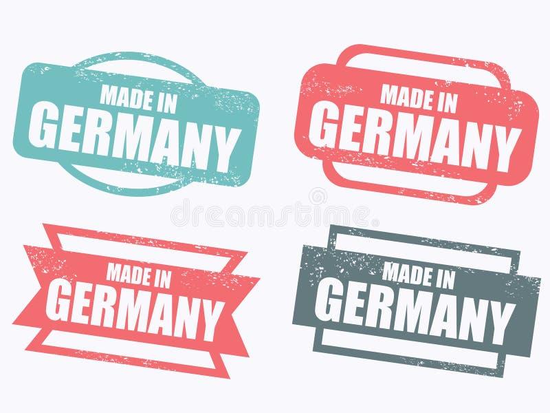 Gebildet in Deutschland stock abbildung