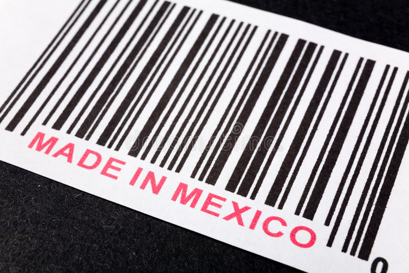 Gebildet in Mexiko lizenzfreies stockbild