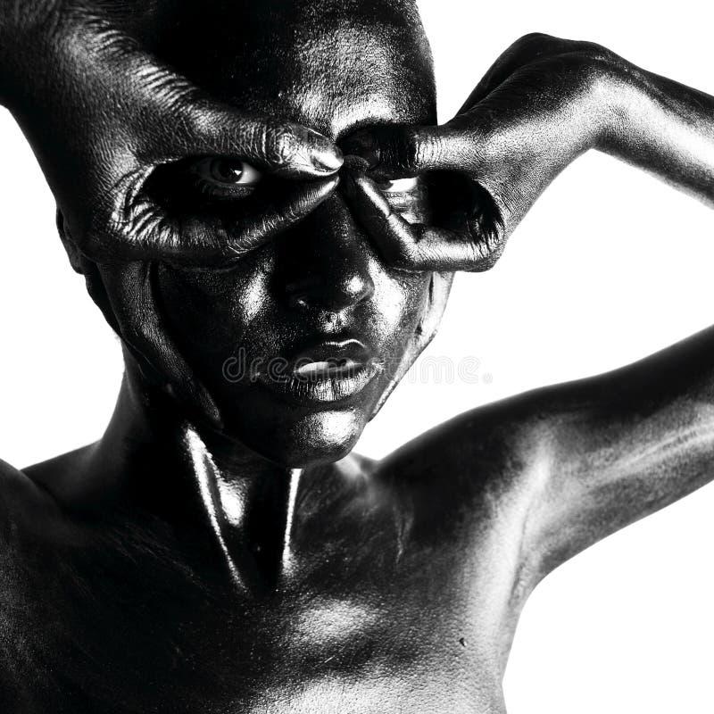 Download Gebildete schwarze Frau stockfoto. Bild von brunette, hell - 9093172