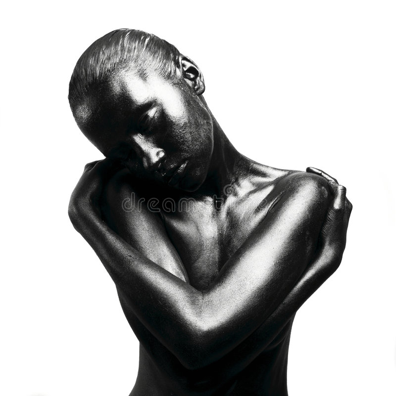 Download Gebildete schwarze Frau stockbild. Bild von negress, elegant - 9093403