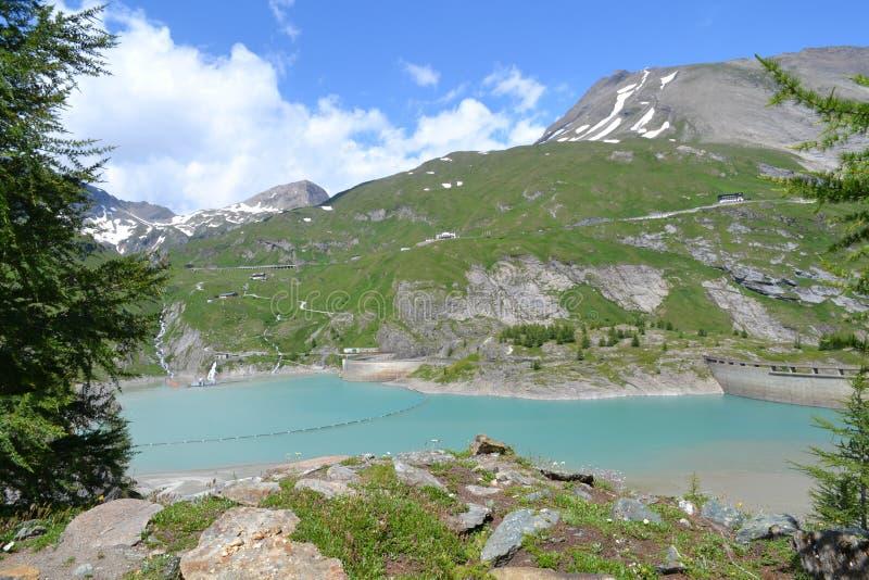 Gebirgsösterreichischer Alpen-Gletscher Pasterze stockbild