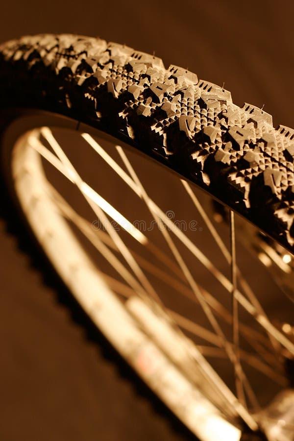 Gebirgsfahrrad-Rad stockfoto