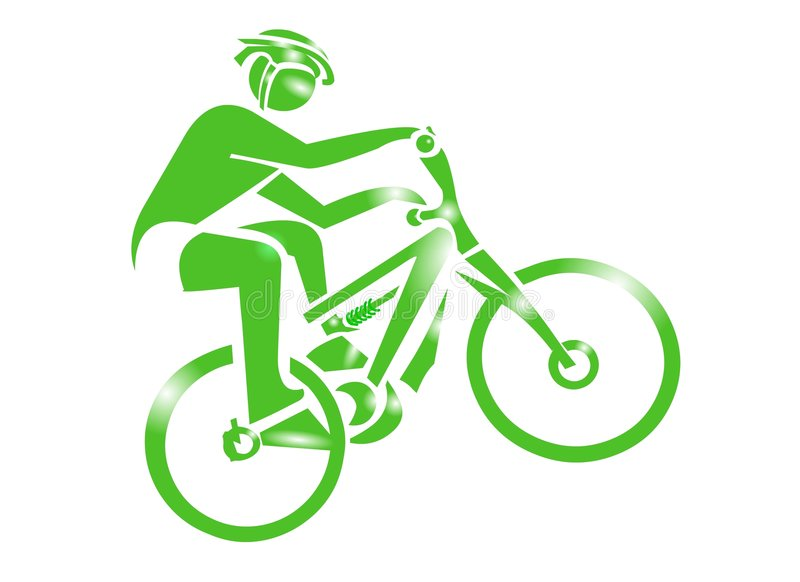 Gebirgsfahrrad-Sport-Ikone lizenzfreie abbildung