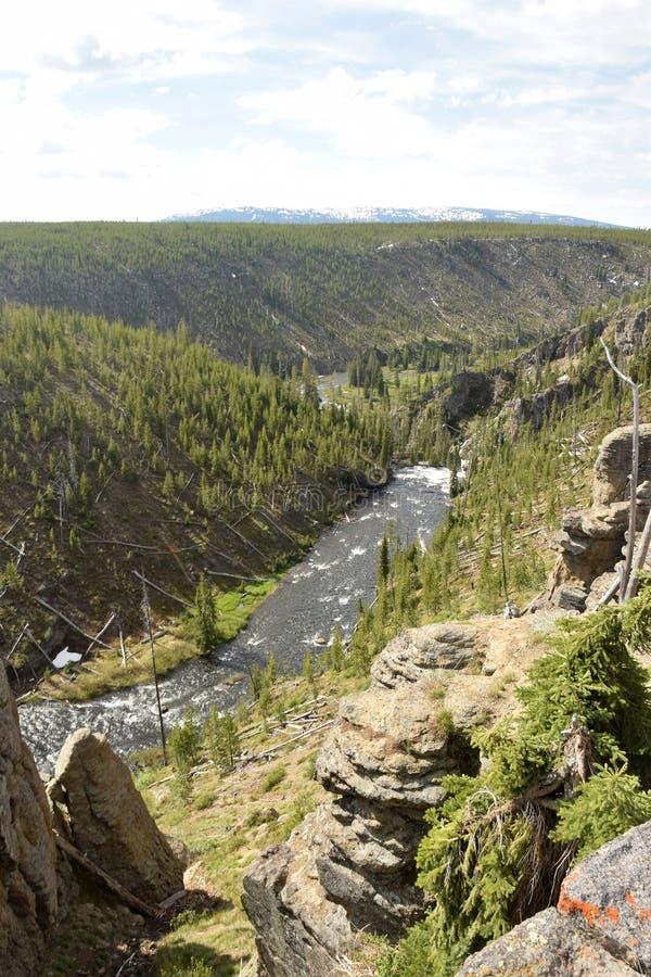 Gebirgsfluss in Wyoming, USA stockbild