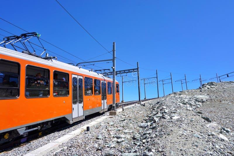 Gebirgsgestell zu Matterhorn, die Schweiz stockbild