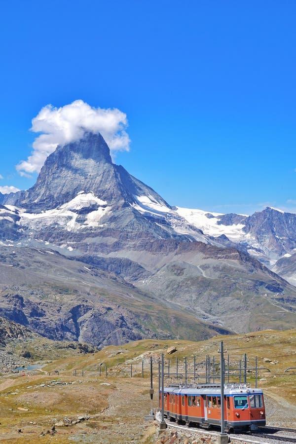 Gebirgsgestell zu Matterhorn, die Schweiz lizenzfreie stockfotos