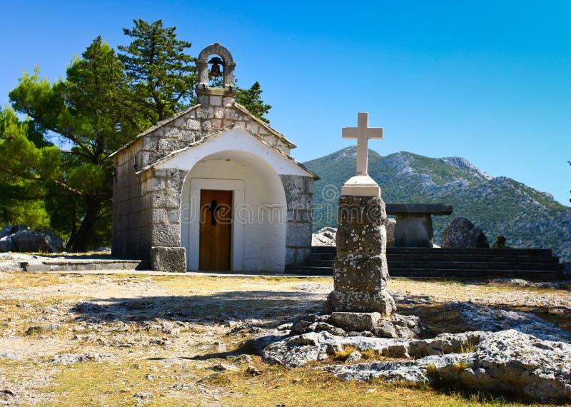 Gebirgskapelle stockfotos