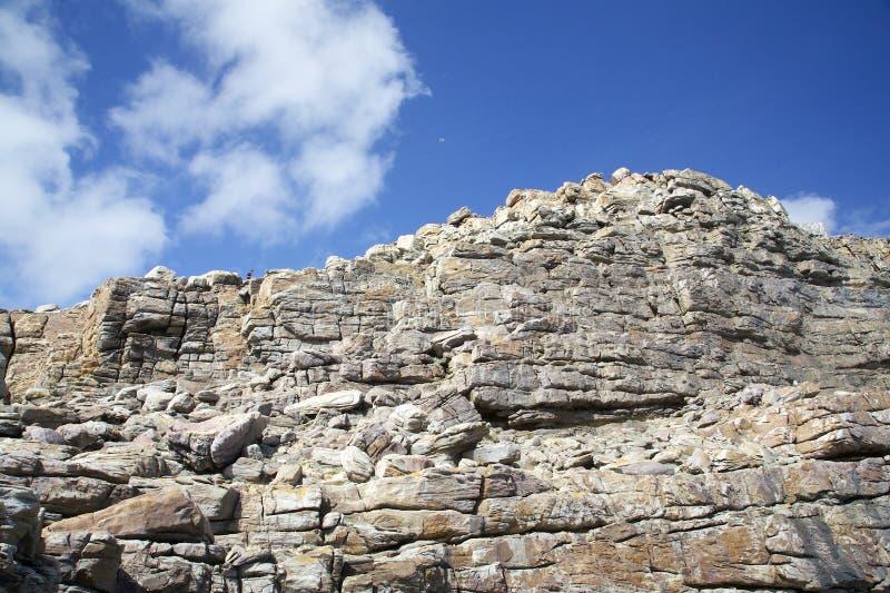 Gebirgsklippe beim Kap der Guten Hoffnung lizenzfreie stockbilder