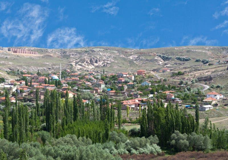 Gebirgsländliche Landschaft in Cappadocia, Anatolien, die Türkei stockfoto