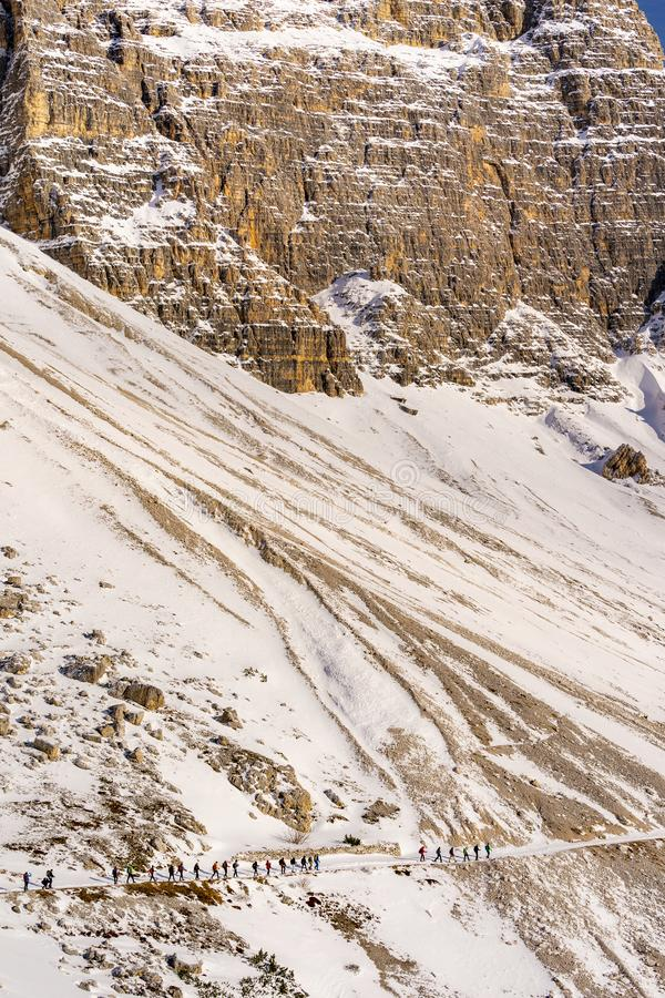 Gebirgslandschaft, Dolomit, Italien lizenzfreie stockbilder