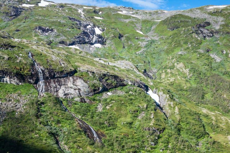 Gebirgslandschaft in Nationalpark Jotunheimen in Norwegen lizenzfreies stockfoto