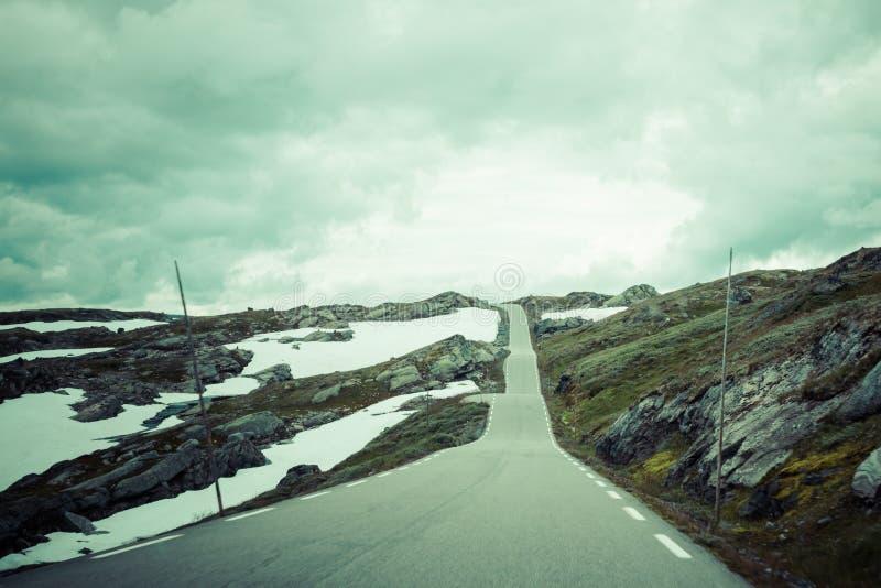 Gebirgslandschaft in Nationalpark Jotunheimen in Norwegen stockfoto