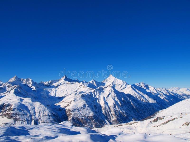 Gebirgslandschaft in Zermatt stockfotos