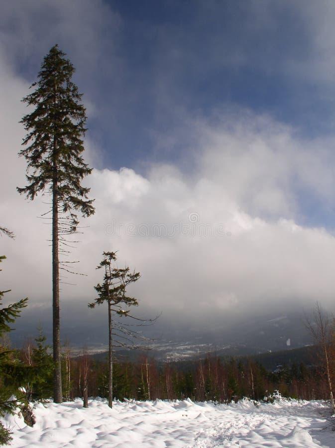Download Gebirgspfad stockfoto. Bild von berg, senke, himmel, wolken - 46104